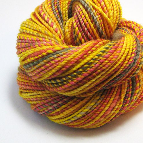 Flickering Flames Handspun Yarn